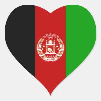 Afeganistão/bandeira afegã/Afghani do coração Adesivo Coração