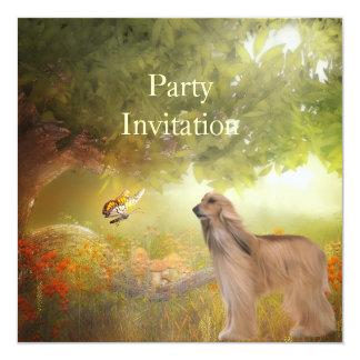 Afegão do convite nas madeiras