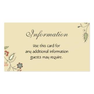 Afiação floral do vintage cartão de visita