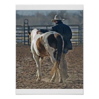 Afixar cow boy cavalo poster
