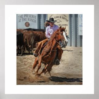 Afixar cowgirl pôster