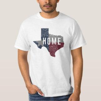 Afligiu toda a camisa da casa da bandeira de Texas