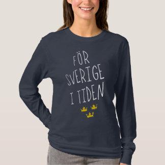 AFör Sverige mim camiseta sueco da divisa de Tiden