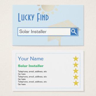 """""""Afortunado encontre"""" cartões de visitas solares"""