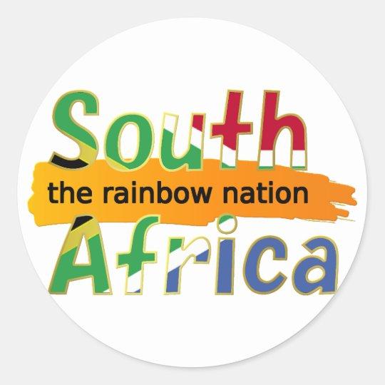 África do Sul: a nação do arco-íris Adesivo Redondo