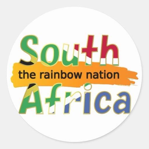 África do Sul: a nação do arco-íris Adesivo Em Formato Redondo