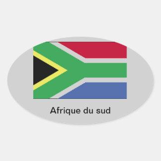 África do Sul Adesivo Oval
