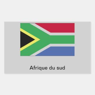 África do Sul Adesivo Retangular
