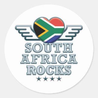 África do Sul balança v2 Adesivos Em Formato Redondos