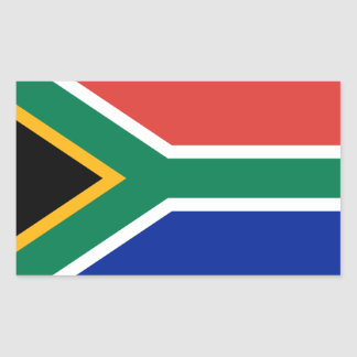 África do Sul/bandeira africana Adesivo Retangular