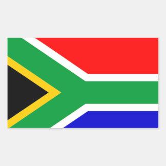 África do Sul: Bandeira de África do Sul Adesivos Em Forma Retangular