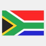 África do Sul: Bandeira de África do Sul Adesivo Em Forma Retangular