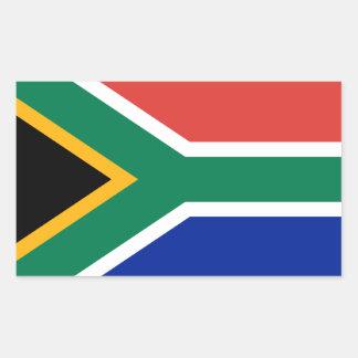 África do Sul * etiqueta da bandeira Adesivo Retangular