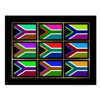 África do Sul Multihue embandeira o cartão