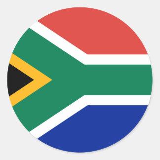 África do Sul ZA Adesivo Em Formato Redondo