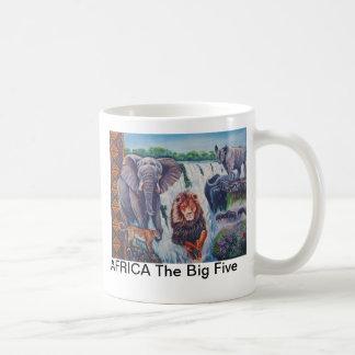 ÁFRICA os cinco grandes Caneca De Café