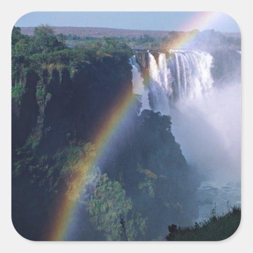 África, Zimbabwe. Cataratas Vitória Adesivo Quadrado