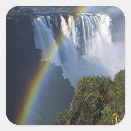 África, Zimbabwe, Cataratas Vitória Adesivo Em Forma Quadrada