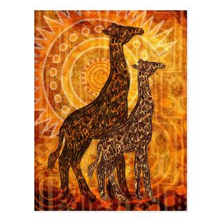African campainha cartão postal