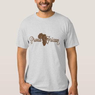 Africano orgulhoso camiseta