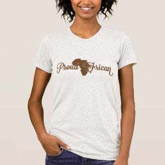 Africano orgulhoso camisetas