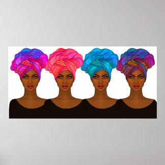 Afro-americano bonito - poster da mulher negra