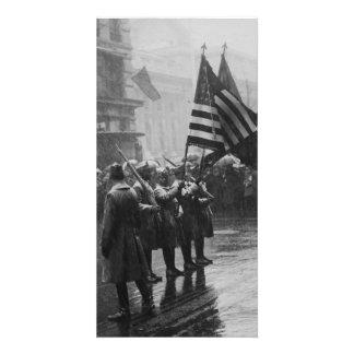 Afro-americano da infantaria dos soldados do búfal cartões com foto