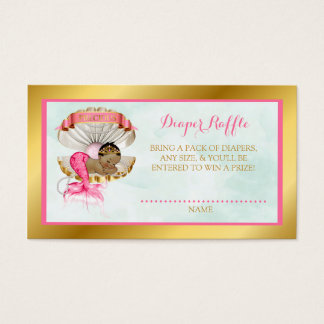 Afro-americano de Shell do Raffle da fralda da Cartão De Visitas