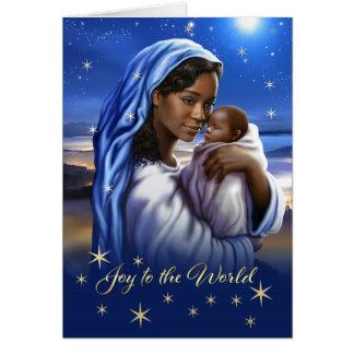 Afro-americano Madonna e cartões de Natal da