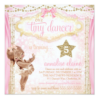 Afro-americano minúsculo do dançarino do vintage convite quadrado 13.35 x 13.35cm