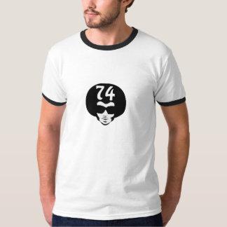Afro retro 74 camiseta