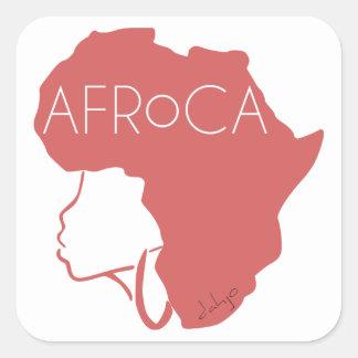 AFROCA. AFRO mais ÁFRICA (fêmea) Adesivo Quadrado