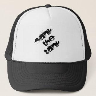 afundou o chapéu do camionista do tanque boné