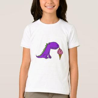 AG camisa do dinossauro e do sorvete