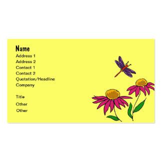 AG flores, sapo, e cartões de visitas da libélula