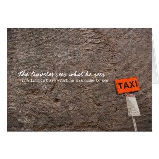 AGARRE um cartão do TÁXI 5x7