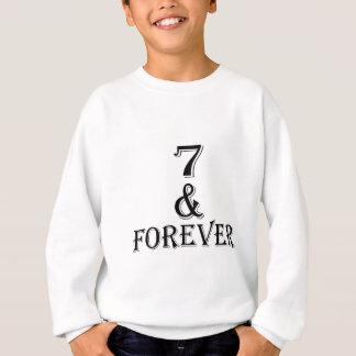 Agasalho 07 e para sempre design do aniversário