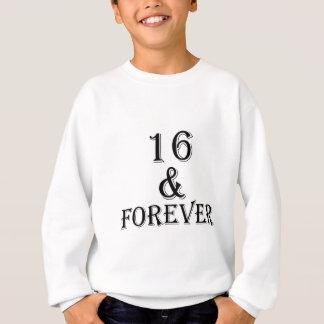 Agasalho 16 e para sempre design do aniversário