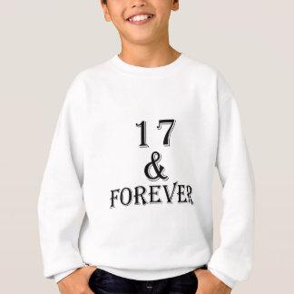 Agasalho 17 e para sempre design do aniversário