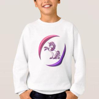 Agasalho A camisola da menina do design do unicórnio