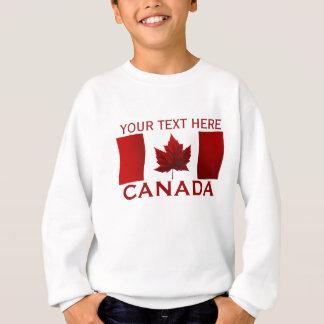 Agasalho A camisola do miúdo da bandeira de Canadá da