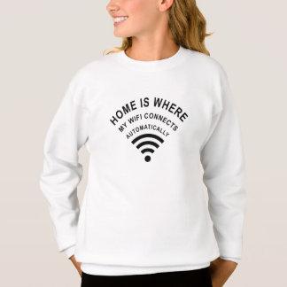 Agasalho A casa é o lugar onde meu wifi conecta