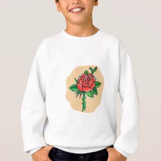 Agasalho A flor em botão cor-de-rosa sae do tatuagem do