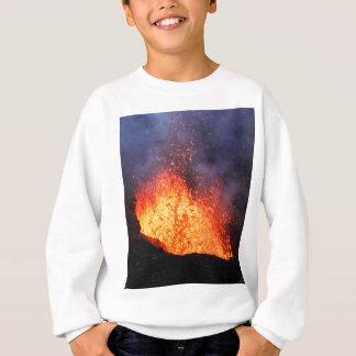 Agasalho A fonte da lava quente entra em erupção do vulcão