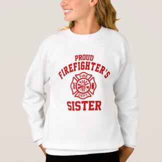 Agasalho A irmã do sapador-bombeiro orgulhoso