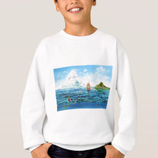 Agasalho A pintura pequena do seascape da sereia
