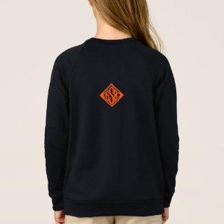 Agasalho a roupa do skate da moagem ostenta o logotipo