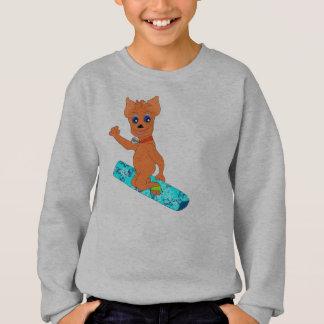 Agasalho A roupa legal do menino - snowboarding feliz