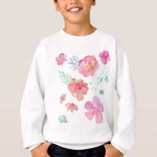 Agasalho Aguarela cor-de-rosa floral romântica legal &