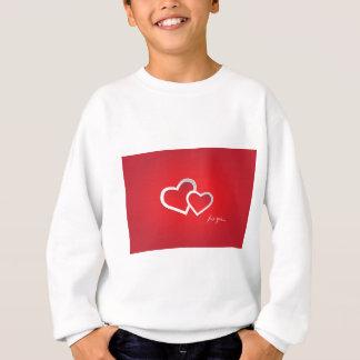 Agasalho Ame-o design vermelho do fundo do amor dos